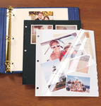 Three-Ring Binder Ivory Sheet Protectors - Set Of 10