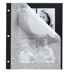 Designer Black 3-Ring Photo Album Pages - Set Of 10
