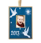 Personalized Hand Painted Peace Ornament
